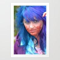 Zombie Alert Art Print