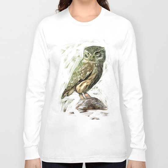 Olive Owl Long Sleeve T-shirt