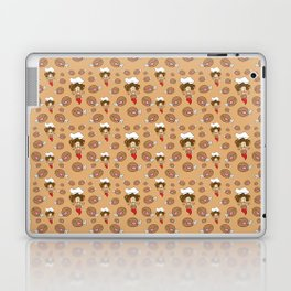 chef with fried chicken thigh tie Laptop & iPad Skin