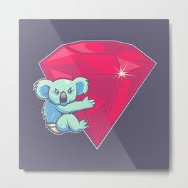 Koala Bear Underwear Metal Print