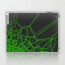 Green voronoi lattice on black background Laptop & iPad Skin
