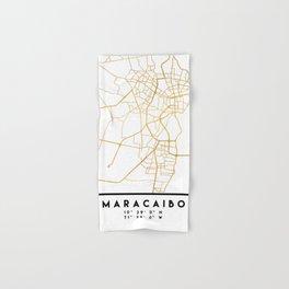 MARACAIBO VENEZUELA CITY STREET MAP ART Hand & Bath Towel