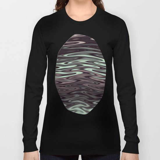 Ripples Fractal in Mint Hot Chocolate Long Sleeve T-shirt