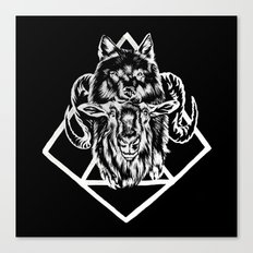 Goat as wolf Canvas Print