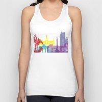 brussels Tank Tops featuring Brussels skyline pop by Paulrommer