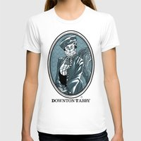 downton abbey T-shirts featuring Downton Tabby by Gimetzco's Damaged Goods