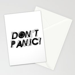 Don't panic, keep calm, relax and stay strong, emotional typography print Stationery Cards