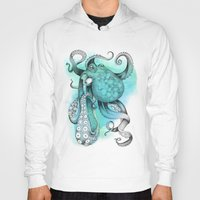 octopus Hoodies featuring Octopus by Emily Golden