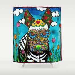 Buster the Schnauzer Shower Curtain