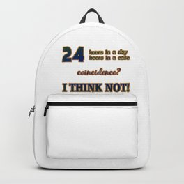 """""""24 Beers in a Case"""" Funny Expression in Bold Typography Backpack"""