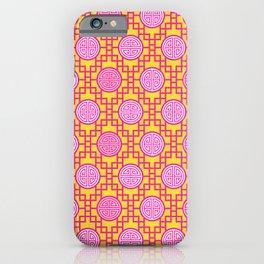 Chinese Geometrics / Pink Yellow iPhone Case