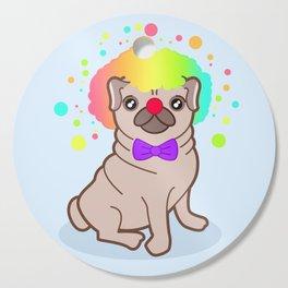 Pug dog in a clown costume Cutting Board