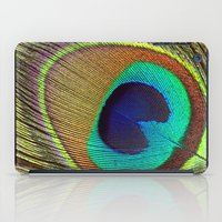 peacock feather iPad Cases featuring Peacock Feather by Kim Bajorek