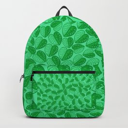 Monstera Leaf 2d Graphic Pattern Backpack