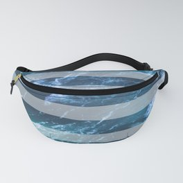 Waves and White Stripes Fanny Pack