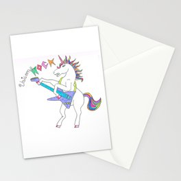 Unicorns can ROCK Stationery Cards