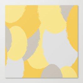 ROUND OF YELLOW Canvas Print