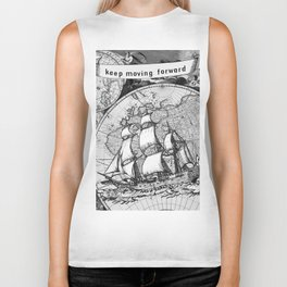 Ship and Map .  Home Decor for Him and Her Biker Tank