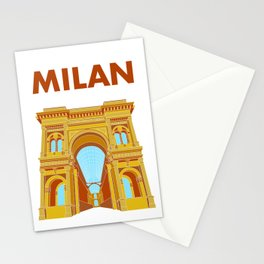Milan, Italy - Galleria Vittorio Emanuele II in Colour Stationery Cards