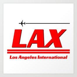 LAX Art Print