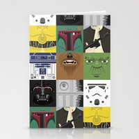 starwars Stationery Cards featuring Starwars combo by Alex Patterson AKA frigopie76