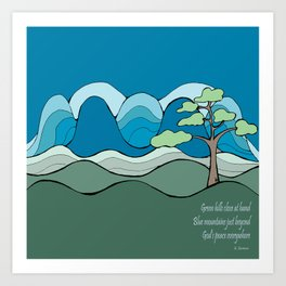 Into the Hills with Poetry  Art Print