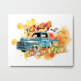 Nice Design Idea for truck drivers and female drivers Metal Print