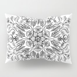 Thrive - Monochrome Mandala Pillow Sham