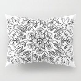 Thrive - Monochrome Mandala Pillow Sham