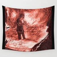 jazz Wall Tapestries featuring Jazz Me by Christa Bethune Smith
