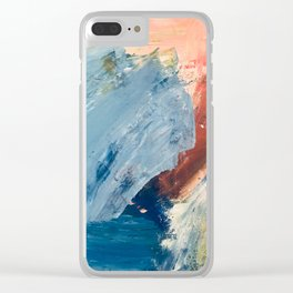 Painterly Abstract Clear iPhone Case