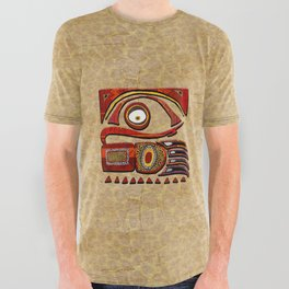 Chu Mtu African Folk Art All Over Graphic Tee