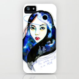 The whole world iPhone Case