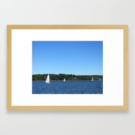 Perfect Day for Sailing Framed Art Print