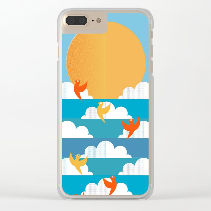 Birds Flying High Clear iPhone Case