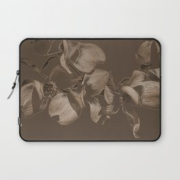 Dogwood Tree Flowers (sepia) Laptop Sleeve