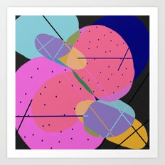 Random Thoughts I - Abstract, minimalist, scandinavian pop art Art Print