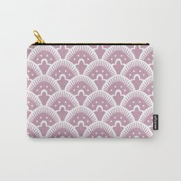 Fan Pattern 431 Dusty Rose Carry-All Pouch