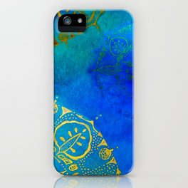Turquoise and Mysterious iPhone Case