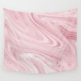 Soft Bubblegum Pink Marble Pattern Wall Tapestry