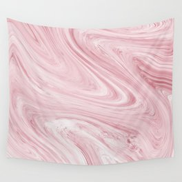 Soft Bubblegum Pink Marble Pattern Wall Tapestry