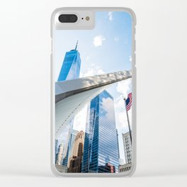 One World Trade Center and Oculus in New York Clear iPhone Case