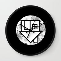 the neighbourhood Wall Clocks featuring The Neighbourhood by Nicole Corder