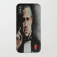 the godfather iPhone & iPod Cases featuring The Godfather by Tridib Das