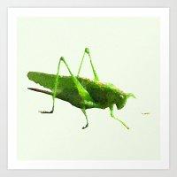 the grasshopper Art Print