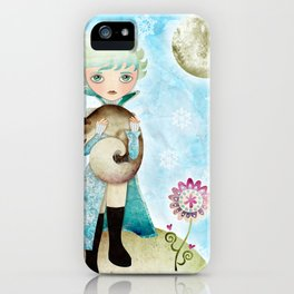 Wintry Little Prince iPhone Case