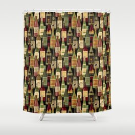 Wine Bottles Shower Curtain