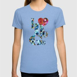 I Love Dogs by Sharon Cummings T-shirt