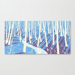 forest vibrent blues Canvas Print