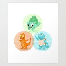 Poké: choose your starter Art Print